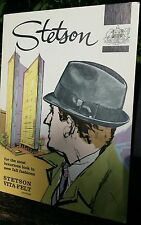 C-1960 STETSON HAT Cardboard STAND UP Counter Display ADVERTISING SIGN vitaFel