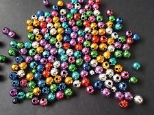 300pcs 6mm Acrylic CHRISTMAS JEWEL Round Spacer Beads - ASSORTED Metallic Mixed