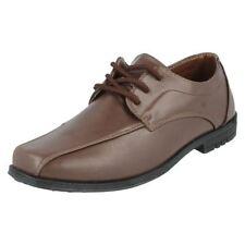 Chaussures habillées marron à lacets pour garçon de 2 à 16 ans
