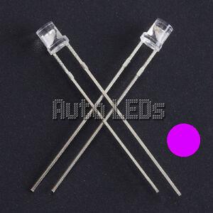 15 x UV/Purple LED 3mm Flat Top - Super Bright