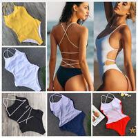 Brazilian Sexy Women One-Piece Swimsuit Bikini Set Bandage Monokini Swimwear