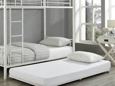 We Furniture Bt40tbwh White Metal Roll Out Twin Trundle Bed Frame