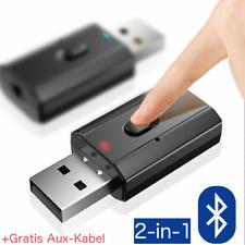 Bluetooth 2in1 5.0 Sender Empfänger Wireless USB Aux Audio Transmitter Adapter