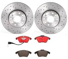Brembo Front Brake Kit Drilled Disc Rotors Ceramic Pads for Audi A3 VW Golf Eos