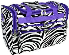 "Zebra with Purple Trim 16"" Duffle Bag-NWT"