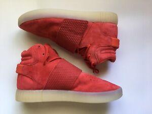 Adidas Tubular Invader Strap  Shoes - Red - Men's. Size 9