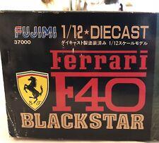 FUJIMI 1/12 DIECAST FERRARI F40 BLACK STAR