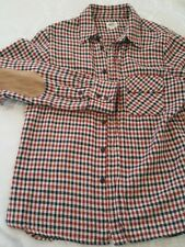 Citizens Of Humanity Red Plaid Button Up Long Sleeve Shirt Riding Elbow Patch M