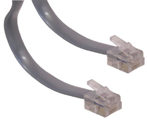 Lot50x/pk/pcs 7ft RJ11 modular 6P4C 4wire Phone/Telephone Line Flat Cord/Cable