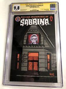 CGC SS 9.8 Chilling Adventures of Sabrina #1 signed Kiernan Shipka Teenage Witch