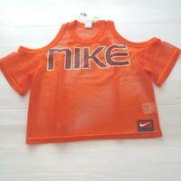 Nike Women NikeLab NRG Mesh Top Shirt - AV8289 - Orange 819 - Size M - NWT