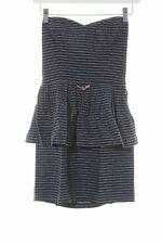 SESSUN Schößchenkleid weiß-dunkelblau Streifenmuster Elegant Damen Gr. DE 34
