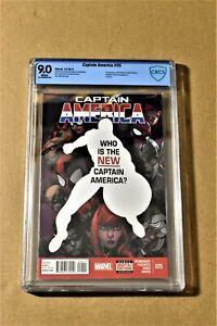 CAPTAIN AMERICA #25 CBCS 9.0 (Not CGC) Marvel 2014 1st Sam Wilson as Cap America