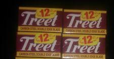 10 TREET CARBON STEEL DOUBLE EDGE BLACK BEAUTY BLADE BARBER SHAVING RAZORS