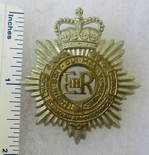 Post WW2 Vintage ROYAL CANADIAN ARMY SERVICE CORPS CAP BADGE  Queens Crown