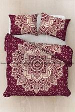 Indian gold flower mandala comforter doona cover duvet quilt cover bohemian set
