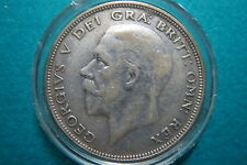 GREAT BRITAIN, 1936  HALF CROWN LARGE SILVER COIN, King George V, Extra Fine