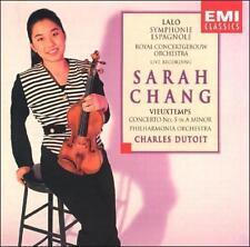 Sarah Chang-Vieuxtemps Lalo: Violin Concertos CD Dutoit