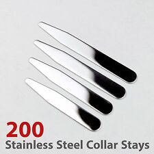 """200pcs size 2.2"""", 2.5"""", 2.75"""" and 3"""" Glossy Finish Stainless Steel Collar Stays"""