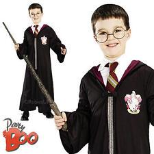 HARRY Potter ROBE + Bacchetta magica, BICCHIERI Ragazzi Costume bambino bambini Libro Settimana Costume