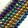 Natural Faceted Hematite Gemstone Round Spacer Beads 2mm 3mm 4mm 6mm 8mm 10mm