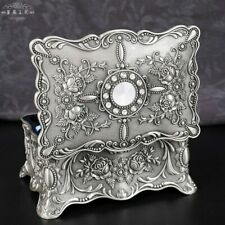 Tin Alloy Romantic Rectangle Music Box ♫ La Vie En Rose ♫