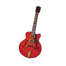 """SA-Dollshouse 9/572 Gitarre """"Red Gibson ES345"""" 1:12 für Puppenhaus NEU!#"""