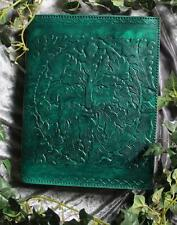 GREEN MAN LARGE LEATHER BOUND JOURNAL/BOOK OF SHADOWS ~ HAND MADE PAPER