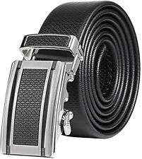 Marino Mens Ultra Soft Leather Ratchet Dress Belt Black  44 waist