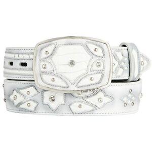Original White Ostrich Leg Skin Fashion Style Belt