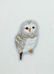 small cute gray Owl Sew Iron On Patches  Embroidered Patch Motif Applique  (144)