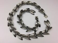 ANTON MICHELSEN / GERTRUDE ENGEL ROUGIE Sterling Silver Necklace & Bracelet Set