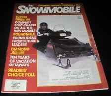 Vintage Snowmobile Magazine polaris yamaha ski doo Kawasaki arctic cat 1987