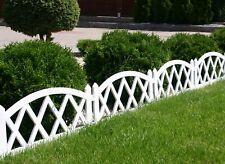 2.4M Blumenbeet Garten Grenze Gras Rasen Rand Zaun Wasserdicht Grün Holz Effekt