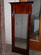 Biedermeierspiegel Edelholz 163,5cm hoch um 1830 mit originalem Glas Pos.468