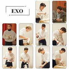 EXO Universe Crystal Card Sticker CHANYEOL SEHUN Sticky Photo Cards Poster 10pcs