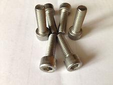 4 x Stainless Steel Disc Brake Mount Adaptor Bolts M6 x 20 mm AF socket