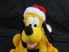 DISNEY CHRISTMAS PLUTO RATTLE BABY SOFT CRIB TOY PLUSH STUFFED ANIMAL