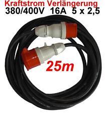 CEE 16A Verlängerungskabel 25m 380 400 V Kabel 5x2,5mm² Spritzwassergeschützt