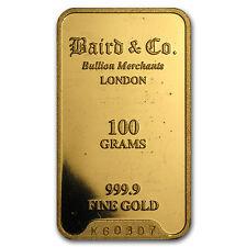 100 gram Gold Bar - Secondary Market - SKU #12475