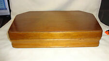 Retro Empty Wooden Canteen/Box For Cutlery 6 Place Setting Red Interior