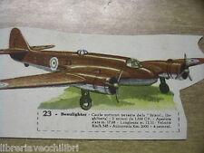 BEAUFIGHTER BRISTOL Aereo carta da ritagliare Aviazione Seconda Guerra Mondiale