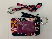 Vera Bradley Painted Paisley Zip ID Card Money Case & Matching Lanyard with Tags
