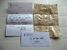 Lettera che Marty McFly scrive a Doc - prop replica - Ritorno al futuro 1 - lou