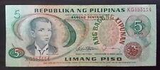 5 Pesos Banknote Philippines Andres Bonifacio Serial#KG353114