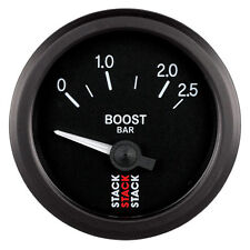 Pila Turbo Boost Eléctrica Medidor De Presión-Negro Esfera - 0-2.5 Bar