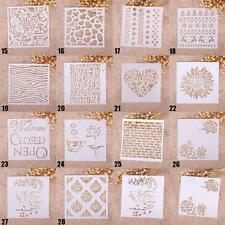 Reusable Airbrush Template Painting Stencils Scrapbooking Decor Wall Craft CA SS