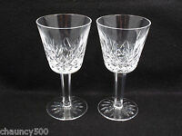 Waterford Crystal Lismore Claret Wine Glasses Set of 2