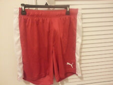 New with Tags - Puma Men's Pitch Shorts without Brief - Size: XL / Red and White