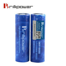 2 x Brillipower Blue 50a 3100mAh 18650 Li-Mn Mod Battery - Efest/Sony/LG Killer